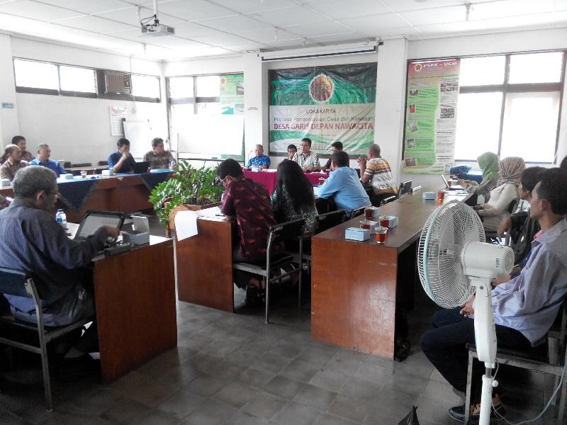 Pertemuan Badan Prakarsa Pemberdayaan Desa dan Kawasan di PSPK-UGM Yogyakarta