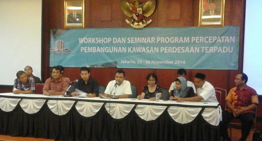 Workshop Percepatan Pembangunan Kawasan Perdesaan