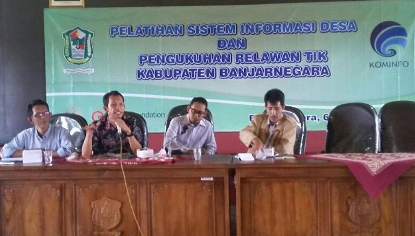 gedhe foundation dan kemkominfo selenggarakan pelatihan sistem informasi desa di kabupaten banjarnegara