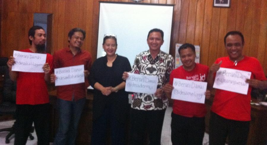 kampanye berani damai gerakan desa membangun dan wahid institute